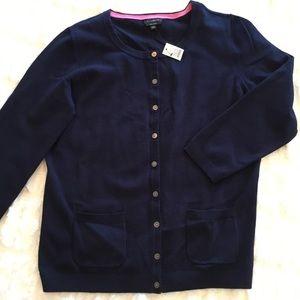 NWT Talbots Pima Cotton Cardigan with pockets